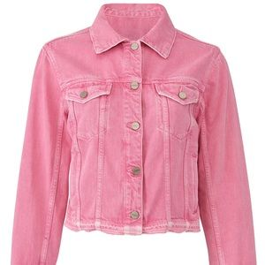 NWT Sanctuary Wild Cherry Denim Jacket Pink